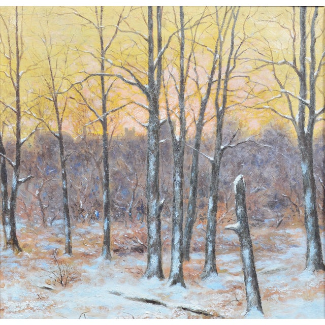 Winter Impressionist Painting of Central Park - Image 6 of 8