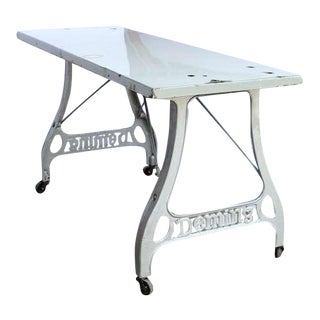 Antique Industrial Folding Table