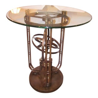 Maitland Smith Metal Armillary Design Bistro Bar Table