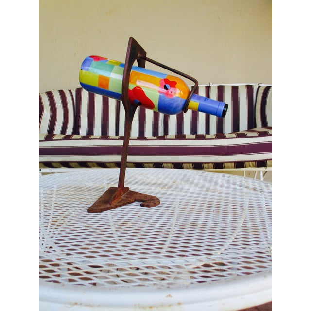Mid-Century Modern Abstract Sculptural Wood Wine Holder - Image 7 of 11