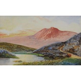 Antique Watercolor Landscape