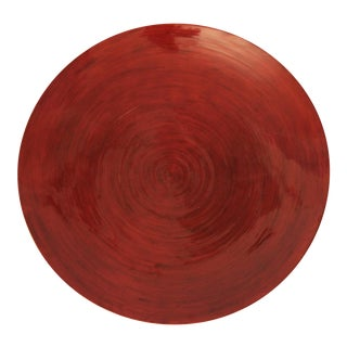 Lacquered Red Bamboo Platter