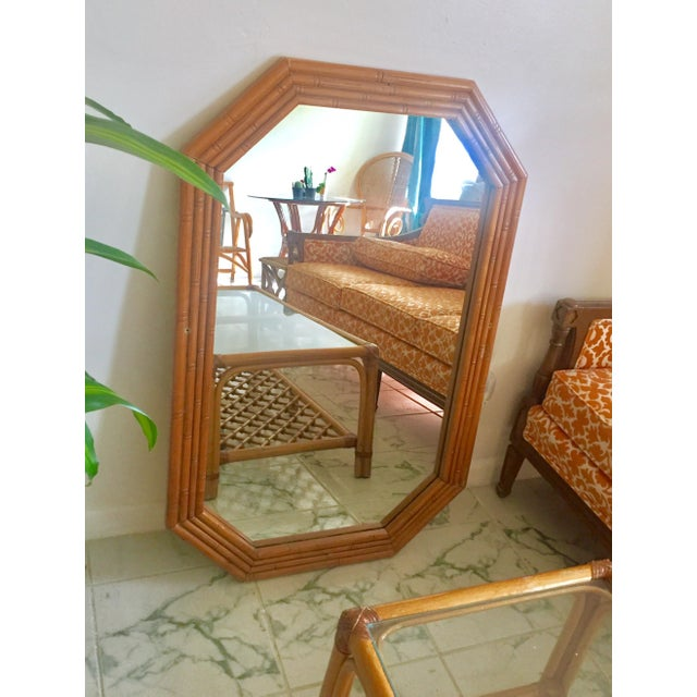 Vintage Mid-Century Faux Bamboo Mirror - Image 3 of 6