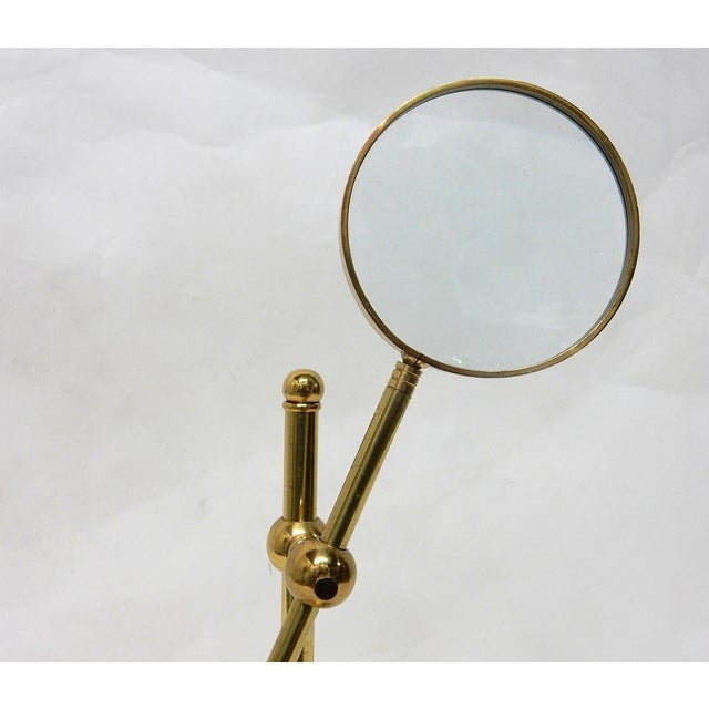 Image of Handcrafted Brass Magnifying Glass on Stand