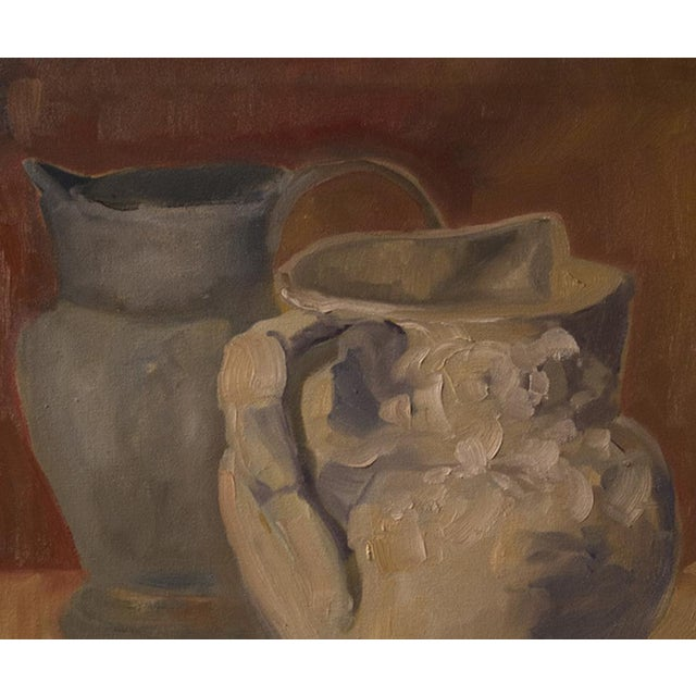 """""""Two Water Vessels"""" Oil Painting - Image 3 of 3"""