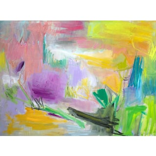 """Trixie Pitts """"Morning Glory"""" Abstract Oil Painting"""