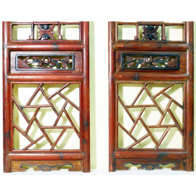 Antique Chinese Screen Panels - A Pair - Image 4 of 4