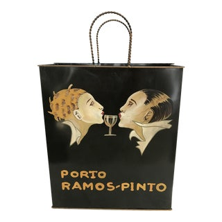 Porto Ramos Pinto Tole Ware Wine Magazine Basket Bag