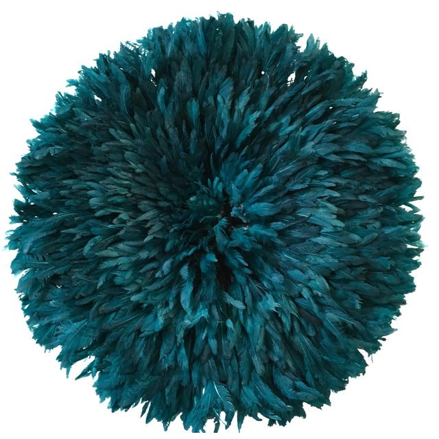 Turquoise Juju Hat Feather Wall Decor - Image 1 of 3