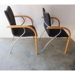 Image of Plurima Modern Italian Arm Chairs - A Pair
