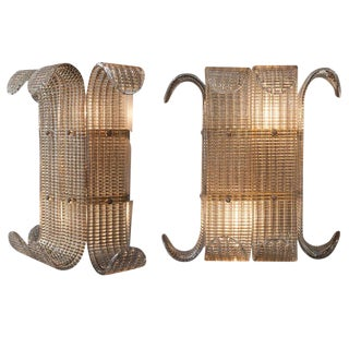 Murano Smoked Glass Wall Sconces by Barovier