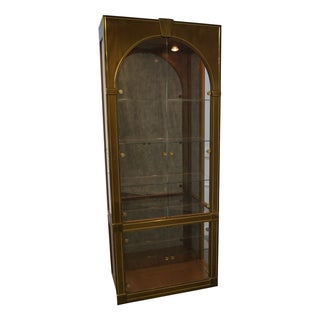 Mastercraft Mid-Century Brass/Glass Curio Cabinet