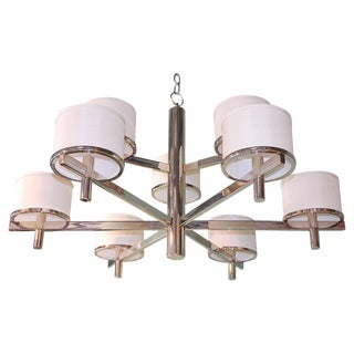 Paul Marra Design Nine Arm Silk Drum Chandelier