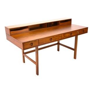 Teak Flip-Top Partners Desk by Lovig