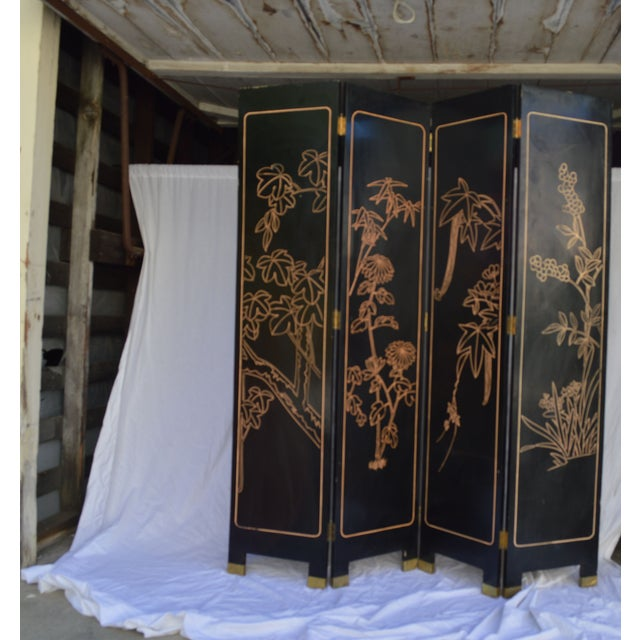 1960s Japanese 4 Panel Screen - Image 7 of 8