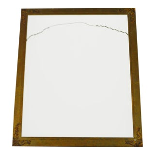 Early Decorative Wood & Metal Ornament Frame