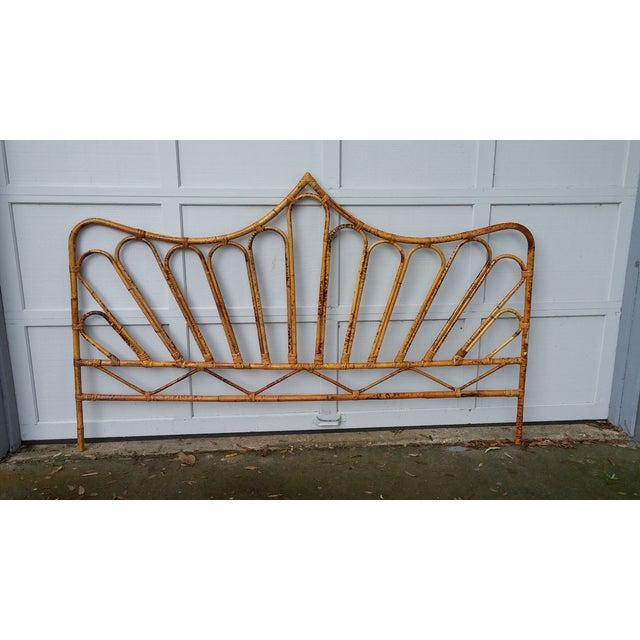 Image of Vintage Rattan King Headboard