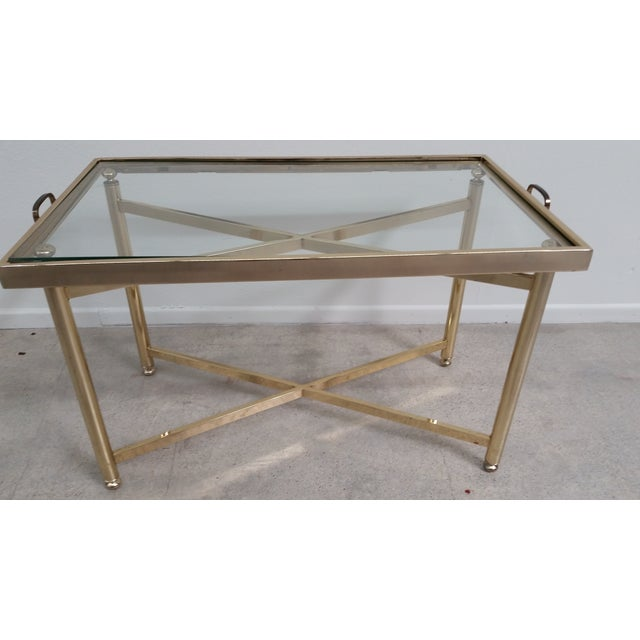 Gold Hollywood Regency Style Tray Table - Image 2 of 7