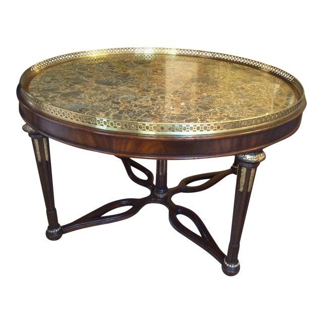 Maitland Smith Circular Coffee Table Chairish