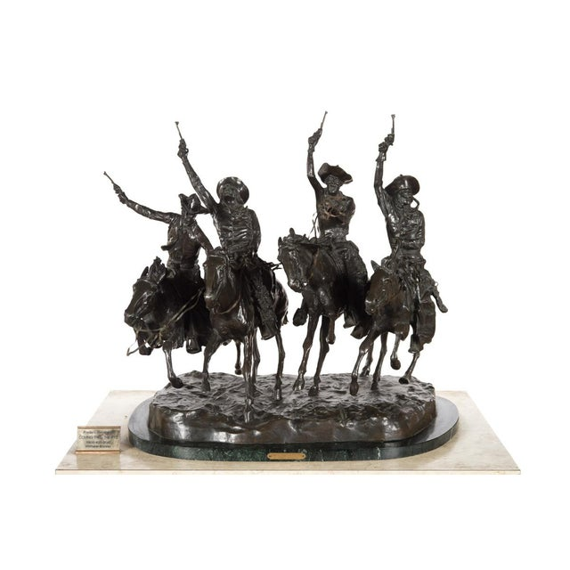 """F. Remington """"Coming Through the Rye"""" Bronze Sculpture - Image 2 of 11"""