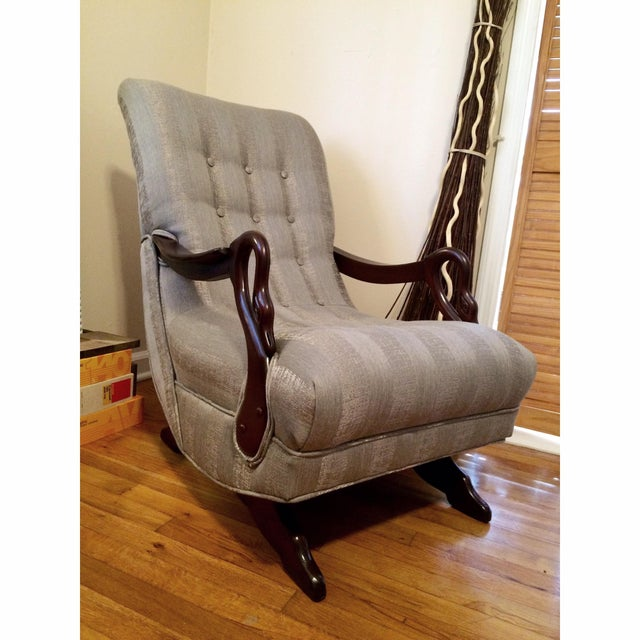 Image of Completely Restored 1930's Swan Arm Rocker