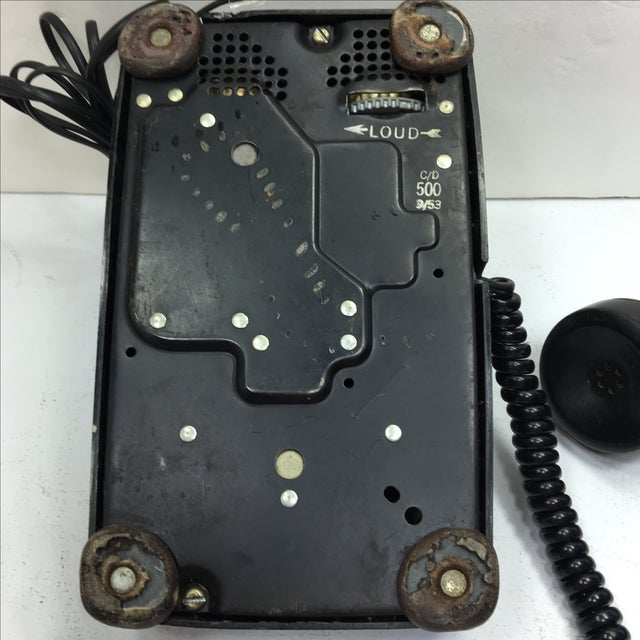 Vintage 1950s Black Rotary Dial Telephone - Image 6 of 11