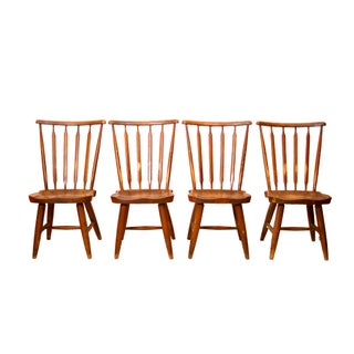 Rustic Windsor Kitchen Chairs - Set of 4