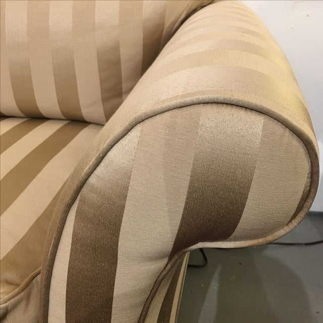 Image of Z- Gallerie Upholstered Striped Cream Chair