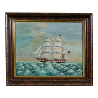 Painting of Sailing Ship by American Artist Lew Hudnall