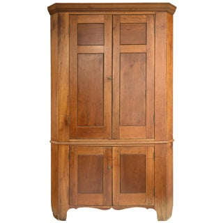 Antique American Cherry Corner Cabinet