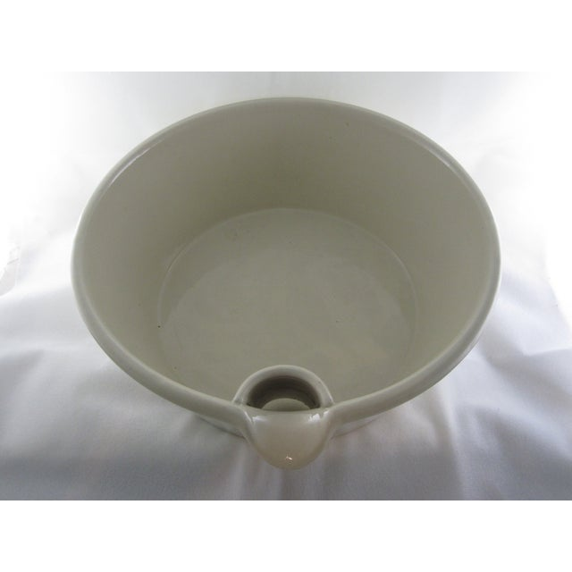 Image of Antique English Doulton Stoneware Dairy Bowl