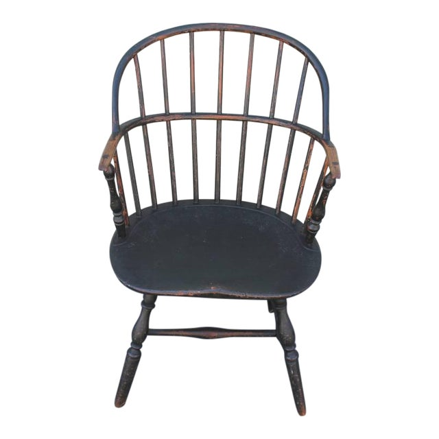 18th Century Original Painted and Signed New England Windsor Armchair - Image 1 of 10