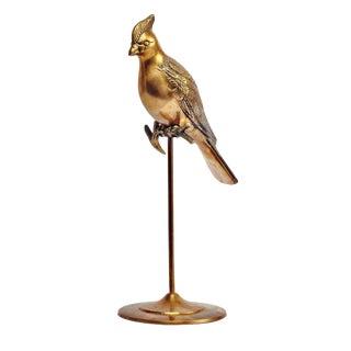 Brass Bird on Perch