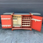 Image of Vintage Chinoiserie Bar Cabinet