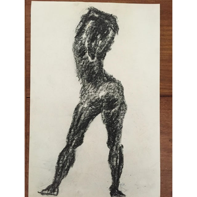 Image of 1960's Charcoal Female Silhouette Frank J. Bette