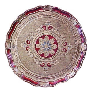 Carved Wood Florentine Tray