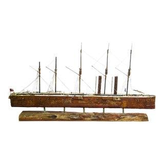 Handcrafted Interpretation Model Cargo Ship by John Taylor