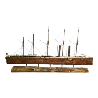 Handcrafted Interpretation Model Cargo Ship by John Taylor