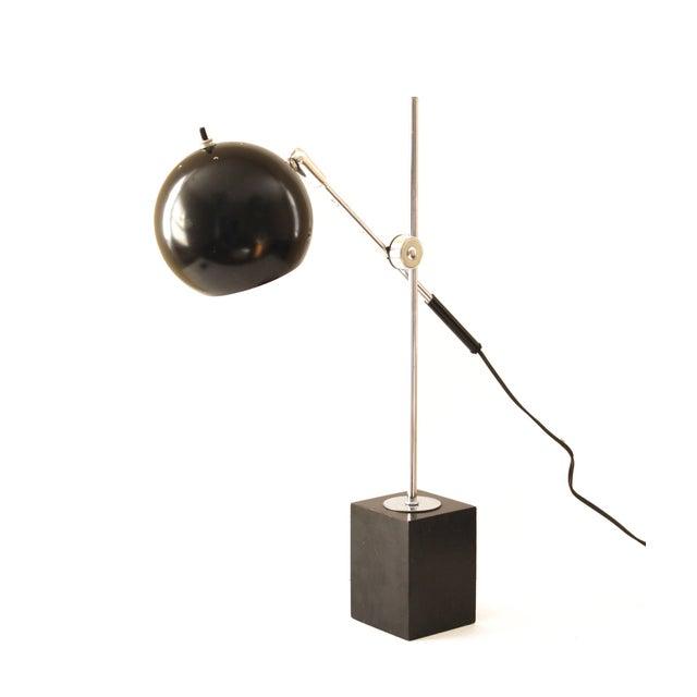 Image of Robert Sonneman Vintage Eyeball Black Desk Lamp