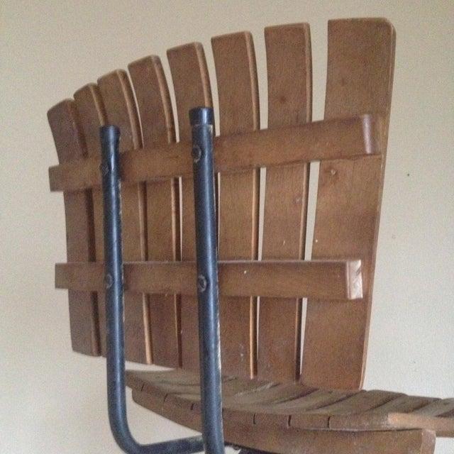 Mid Century Umanoff Style Wooden Slat Stool - Image 9 of 10