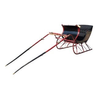 Antique Portland Cutter Black & Maroon Sleigh