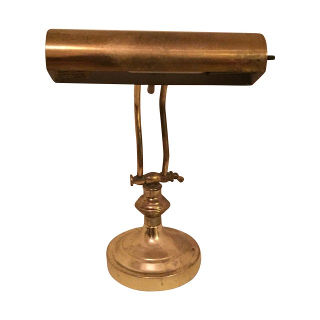 Image of Solid Brass Bankers Lamp