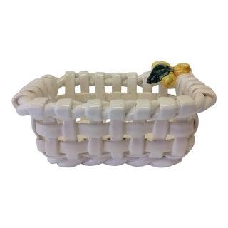Lemon Lattice-Weave Basket