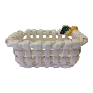 Lemon Lattice-Weave Basket