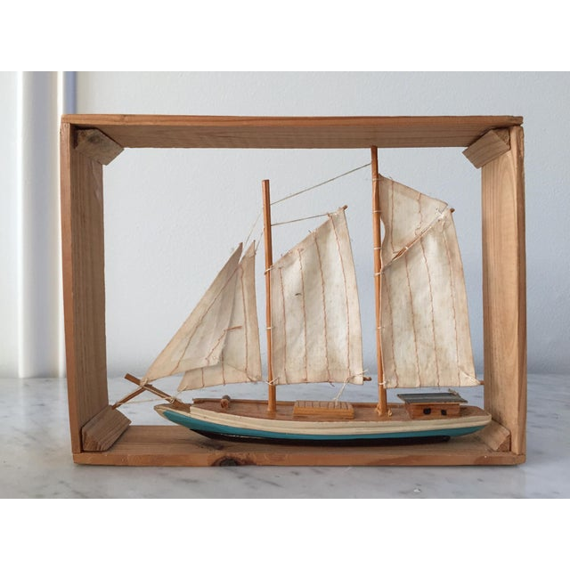 Vintage Sailboat Nautical Decorative Item - Image 2 of 4