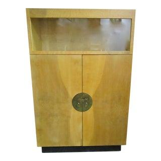 Burlwood Bar Liquor Cabinet