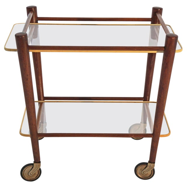 Cees Braakman Teak Searving Cart - Image 1 of 5