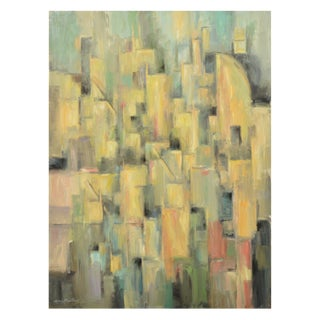 Cubist Cityscape Signed Original Painting