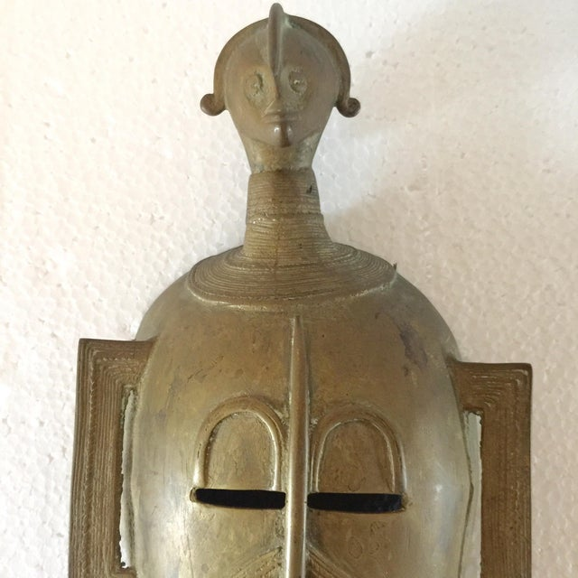 African Brass Mask - Image 6 of 6