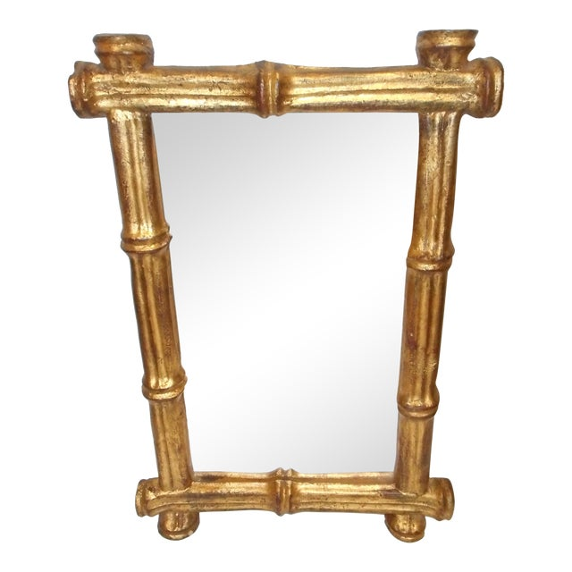 Florentia French Regency Faux Bamboo Mirror - Image 1 of 6